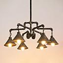 abordables Candelabros-6-luz Industrial Lámparas Araña Luz Downlight Latón Envejecido Acabados Pintados Metal Creativo, Tubo 110-120V / 220-240V