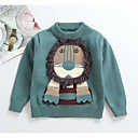 ieftine Băieți & Copil Plovere & Cardigane-Bebelus Băieți De Bază Imprimeu Manșon Lung Regular Poliester Sfeter & Cardigan Maro / Copil