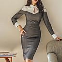 זול חליפות-שמלת נשף רזה של נשים, צווארון ארוך
