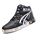 cheap Men's Sneakers-Men's Comfort Shoes PU(Polyurethane) Fall Casual Sneakers Breathable Black / Gold / Black / White / Black / Red