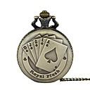 preiswerte PS3 Zubehör-Herrn Paar Taschenuhr Quartz Bronze Armbanduhren für den Alltag Cool Analog Retro Freizeit - Bronze