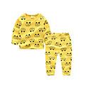 ieftine Set Îmbrăcăminte Băieți Bebeluși-Copii Băieți De Bază Zilnic Buline Manșon Lung Regular Regular Bumbac / Poliester Set Îmbrăcăminte Galben 100