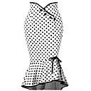abordables Juego de Joyas-Mujer Básico Corte Sirena Faldas Un Color / A Lunares Alta cintura / Sexy