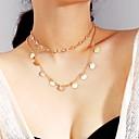 Χαμηλού Κόστους LED Φωτολωρίδες-Γυναικεία Κλασσικό πολυεπίπεδη Κολιέ - Lovely Χρυσό, Ασημί 40 cm Κολιέ Κοσμήματα 1set Για Καθημερινά, Φεστιβάλ