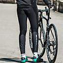 זול שורטים, מכנסיים, טייצים לרכיבת אופניים-SANTIC בגדי ריקוד גברים טייץ לרכיבה אופניים טייץ רכיבה על אופניים מכנסיים תחתיות שמור על חום הגוף עמיד ספורט צבע אחיד אלסטיין חורף שחור רכיבת הרים רכיבת כביש ביגוד מידת Semi-Form Fit / מיקרו-אלסטי
