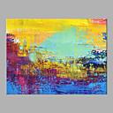 abordables Peintures Abstraites-Peinture à l'huile Hang-peint Peint à la main - Abstrait Moderne Sans cadre intérieur / Toile roulée