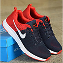 cheap Men's Athletic Shoes-Men's Comfort Shoes Tissage Volant Fall & Winter Business / Casual Athletic Shoes Breathable Color Block Black / Red / Blue / Shock-absorbing