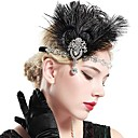 cheap Historical & Vintage Costumes-The Great Gatsby Vintage 1920s Roaring 20s Costume Women's Flapper Headband Headwear Head Jewelry Black Vintage Cosplay Party Prom / Feather