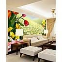 levne Tapety-3d slunečnice květinové art deco tapety nástěnné plátno obložení