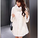 cheap Wedding Wraps-3/4 Length Sleeve Faux Fur Wedding / Party / Evening Women's Wrap With Buckle / Crystals / Rhinestones Coats / Jackets
