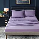 billige Sengetøj-bomuld quiltet solid farvet 1pc fladt ark / 1pc monteret plade / 1pc pudebetræk sengetæppe