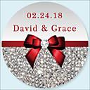 hesapli Düğün Hediyeleri-Düğün Etiketler, Etiketleri ve Etiketler - 50 pcs Dairesel Çıkartmalar / Zarf Sticker Tüm Mevsimler