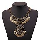 billige Mote Halskjede-Dame Krave damer Vintage afrikansk Elizabeth Locke Legering Gull Sølv 46+5 cm Halskjeder Smykker 1pc Til Festival