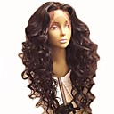 cheap Human Hair Wigs-Remy Human Hair Lace Front Wig Brazilian Hair Loose Wave Black Wig Layered Haircut 130% Density with Baby Hair Natural Hairline For Black Women Unprocessed Black Women's Long Human Hair Lace Wig Aili