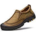 olcso Férfi bebújós cipők és papucsok-Férfi Bőr cipők Nappa Leather Ősz Vintage / Alkalmi Papucsok & Balerinacipők Masszázs Fekete / Khakizöld