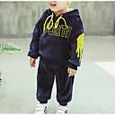 tanie Zestawy ubrań dla chłopców-Dzieci Dla chłopców Podstawowy Solidne kolory Długi rękaw Regularny Regularny Bawełna / Poliester Komplet odzieży Niebieski