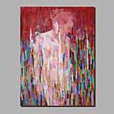 abordables Peintures de Paysages-Peinture à l'huile Hang-peint Peint à la main - Abstrait Personnage Contemporain Moderne Inclure cadre intérieur / Toile roulée / Toile tendue