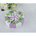 povoljno Kutijice za svadbene poklone-Lenonice Silk Like Satin / Art Paper Naklonost Holder s Uzorak / print / Lente / Vrpce Milost Kutije / Poklon kutije - 10pcs