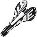 זול כידונים ומוטות חיבור-אוכף אופניים קל משקל נושם קומפורט עיצוב חלול סיבי פחמן רכיבת אופניים אופני כביש אופני הרים אופניים הילוך קבוע לבן