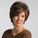 Χαμηλού Κόστους Συνθετικές περούκες χωρίς σκουφί-Συνθετικές Περούκες Φυσικό ευθεία Στυλ Κούρεμα καρέ Χωρίς κάλυμμα Περούκα Καφέ Μπεζ Συνθετικά μαλλιά 10 inch Γυναικεία Μοδάτο Σχέδιο / Νέα άφιξη / Φυσική γραμμή των μαλλιών Καφέ Περούκα Μεσαίου Μήκους