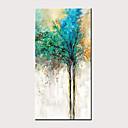 halpa Abstraktit maalaukset-Hang-Painted öljymaalaus Maalattu - Abstrakti Kukkakuvio / Kasvitiede Klassinen Moderni Ilman Inner Frame / Valssatut kankaat