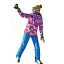 tanie Odzież narciarska i snowboardowa-MARSNOW® Damskie Kurtka i spodnie narciarskie Odporność na wiatr, Wodoodporny, Ciepłe Sporty zimowe 100% bawełna chenille Zestawy odzieży Odzież narciarska / Zima