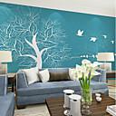 levne Tapety-tapeta / Nástěnná malba Plátno Wall Krycí - lepidlo požadováno stromy a listí / secesní motiv / 3D