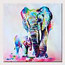 abordables Peintures Abstraites-Peinture à l'huile Hang-peint Peint à la main - Abstrait / Pop Art Moderne Sans cadre intérieur