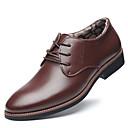 Χαμηλού Κόστους Αντρικά Oxford-Ανδρικά Παπούτσια άνεσης Μικροΐνα Χειμώνας Καθημερινό Oxfords Διατηρείτε Ζεστό Μαύρο / Καφέ / Πάρτι & Βραδινή Έξοδος
