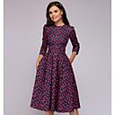 cheap Temporary Paints-Women's Daily Elegant A Line Dress Red L XL XXL
