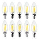 abordables Ampoules à Filament LED-YWXLIGHT® 10pcs 4 W 300-400 lm E12 Ampoules Bougies LED / Ampoules à Filament LED C35 4 Perles LED SMD Créatif Blanc Chaud / Blanc Froid 110-130 V
