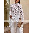hesapli Kadın Düz Ayakkabıları ve Makosenleri-Kadın's İnce - Bluz Dantel, Solid Temel Beyaz M / Yaz / Sonbahar