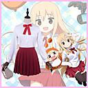 halpa Anime-asut-Innoittamana Himouto Cosplay Anime Cosplay-asut Cosplay Puvut / Koulu-univormut / Cosplay-Peruukit Yhtenäinen väri Pitkähihainen Solmio / Pusero / Hame Käyttötarkoitus Miesten / Naisten