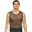ราคาถูก ชุดเต้นรำ-ชุดเต้นรำ Nightcub Jumpsuits / โพลแดนซ์ สำหรับผู้ชาย การฝึกอบรม / Performance Terylene กระโปรงระบาย เสื้อไม่มีแขน Top