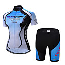 cheap Cycling Jersey & Shorts / Pants Sets-TELEYI Women's Short Sleeve Cycling Jersey with Shorts - Sky Blue Gradient Bike Clothing Suit Breathable Moisture Wicking Quick Dry Sports Polyester Gradient Mountain Bike MTB Road Bike Cycling