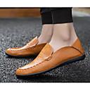 billige Slip-ons og loafers til herrer-Herre Komfort Sko Lær Vår sommer En pedal Svart / Gul