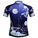 cheap Cycling Jerseys-JESOCYCLING Women's Short Sleeve Cycling Jersey Purple Floral Botanical Plus Size Bike Jersey Top Breathable Quick Dry Sports Polyester Mountain Bike MTB Road Bike Cycling Clothing Apparel / Stretchy
