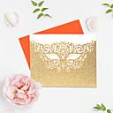 preiswerte Hochzeitseinladungen-Glatte Karte Hochzeits-Einladungen 5 Stück - Einladungskarten / Dankeschön-Karten Moderner Stil Reines Papier Glitzer