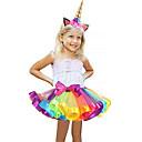 preiswerte Urlaubsrequisiten-Karnival Kostüm Mädchen Kinder Erwachsene Halloween Halloween Karneval Maskerade Fest / Feiertage Tüll Polyester Austattungen Blau / Rosa / Violett / Blau Regenbogen