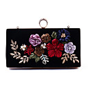 cheap Clutches & Evening Bags-Women's Bags Polyester Evening Bag Buttons / Embroidery Embroidery Black