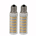 abordables Luces LED en Espiga-2pcs 4.5 W 450 lm E12 Bombillas LED de Mazorca T 76 Cuentas LED SMD 2835 Regulable Blanco Cálido / Blanco Fresco 220 V