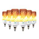 זול סטים של ביגוד לבנות-ywxlight ® 6pcs יצירתי 3 מצבים להבה אורות e26 / e27 e12 e14 b22 הוביל אפקט הלהבה אש נורה 5w מהבהבת אמולציה מנורה