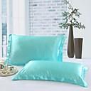billige Sengetøj-Pudebetræk - 100% Tencel Reaktivt Print Ensfarvet 2stk Pudebetræk