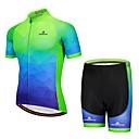 abordables Sets de Maillots Ciclistas y Shorts / Pantalones-Miloto Manga Corta Maillot de Ciclismo con Shorts - Azul Marino Bicicleta / Elástico