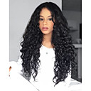 cheap Human Hair Wigs-Unprocessed Human Hair Lace Front Wig Brazilian Hair Wavy Wig Deep Parting 130% 150% 180% Density with Baby Hair Natural Hairline with Clip Glueless With Bleached Knots Natural Women's Mid Length