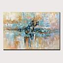 levne DIY Nástěnné hodiny-Hang-malované olejomalba Ručně malované - Abstraktní Moderní Bez vnitřní rám / Válcované plátno