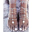 baratos Tornezeleira-Mulheres Moeda tornozeleira - senhoras, Simples, Básico Jóias Prata Para Presente Cerimônia