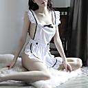 povoljno Seksi kostimi-Uniforma sluškinje Žene Otvorena leđa / Mašna Super seksi Noćno rublje Color block Obala One-Size / S naramenicama
