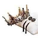 economico Costumi, accessori e gioielli-Cigno nero Corona Vintage Gotico Barocco Elegante Orecchini a goccia Orecchini a cerchio Tiare fronte Corona Per Da sera Graduazione Ricevimento di matrimonio Per donna Da ragazza Cristallo Oro