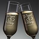 hesapli Özel Şampanya Kadehleri-cam / Bambu Fiber / Cam Kızartma Flüt 1 fincan / Düğün Tüm Mevsimler